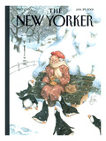 The New Yorker Cover - January 29, 2001 Premium Giclee Print by Peter de Sève