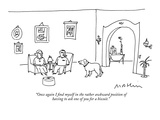 """Once again I find myself in the rather awkward position  of having to ask…"" - New Yorker Cartoon Premium Giclee Print by Michael Maslin"