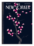 Dark Spring - The New Yorker Cover, March 28, 2011 Regular Giclee Print by Christoph Niemann