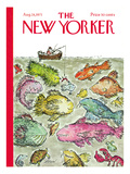 The New Yorker Cover - August 28, 1971 Premium Giclee Print by Edward Koren