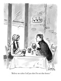 """Believe me when I tell you that I'm not that honest."" - New Yorker Cartoon Premium Giclee Print by Marisa Acocella Marchetto"