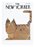 The New Yorker Cover - September 24, 1979 Premium Giclee Print by Saul Steinberg