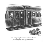Lenin, Anticipating His Arrival at Finland Station, Sees His Baggage Taken… - New Yorker Cartoon Premium Giclee Print by Eldon Dedini