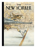 The New Yorker Cover - November 20, 2000 Premium Giclee Print by Peter de Sève