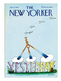 The New Yorker Cover - January 31, 1970 Premium Giclee Print by Saul Steinberg