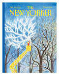 The New Yorker Cover - December 20, 1993 Regular Giclee Print by Jean-Jacques Sempé