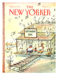 The New Yorker Cover - September 23, 1991 Premium Giclee Print by George Booth