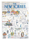 The New Yorker Cover - January 16, 1971 Premium Giclee Print by Saul Steinberg