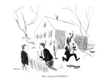 """Guess who got into Hotchkiss!"" - New Yorker Cartoon Premium Giclee Print by James Stevenson"