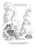"""If you plan on entering the Kingdom of Heaven, you'll have to sever all e…"" - New Yorker Cartoon Premium Giclee Print by Henry Martin"