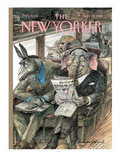 The New Yorker Cover - September 28, 1998 Premium Giclee Print by Edward Sorel