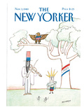 The New Yorker Cover - November 3, 1980 Premium Giclee Print by Saul Steinberg