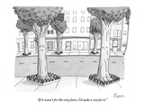 """If it wasn't for this tiny fence, I'd make a run for it."" - New Yorker Cartoon Premium Giclee Print by Zachary Kanin"