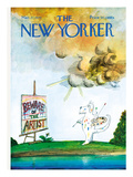 The New Yorker Cover - March 27, 1971 Regular Giclee Print by Saul Steinberg