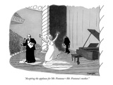 """Accepting the applause for Mr. Fontana—Mr. Fontana's mother."" - New Yorker Cartoon Premium Giclee Print by Jack Ziegler"