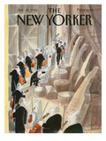 The New Yorker Cover - January 28, 1985 Premium Giclee Print by Jean-Jacques Semp&#233;