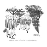 """There's old Begley—still marching to a different drummer."" - New Yorker Cartoon Premium Giclee Print by Mischa Richter"