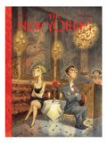 The New Yorker Cover - February 19, 1996 Premium Giclee Print by Peter de Sève