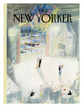 The New Yorker Cover - January 5, 1987 Premium Giclee Print by Jean-Jacques Sempé