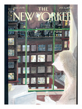The New Yorker Cover - January 6, 2003 Regular Giclee Print by Jean-Jacques Sempé