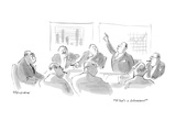 """What's a debenture?"" - New Yorker Cartoon Premium Giclee Print by James Stevenson"
