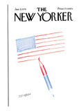 The New Yorker Cover - January 5, 1976 Premium Giclee Print by Saul Steinberg