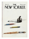 The New Yorker Cover - January 6, 1975 Premium Giclee Print by Saul Steinberg