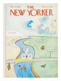 The New Yorker Cover - March 26, 1966 Premium Giclee Print by Saul Steinberg