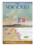The New Yorker Cover - December 4, 1971 Premium Giclee Print by Saul Steinberg