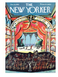 The New Yorker Cover - January 28, 1961 Regular Giclee Print by Saul Steinberg