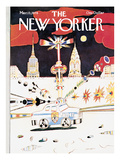 The New Yorker Cover - March 13, 1978 Regular Giclee Print by Saul Steinberg