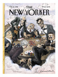 The New Yorker Cover - February 12, 1996 Premium Giclee Print by Edward Sorel