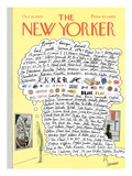 The New Yorker Cover - October 18, 1969 Premium Giclee Print by Saul Steinberg