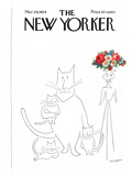 The New Yorker Cover - March 20, 1954 Premium Giclee Print by Saul Steinberg