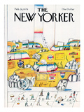 The New Yorker Cover - February 26, 1979 Premium Giclee Print by Saul Steinberg