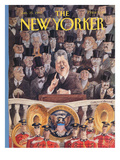 The New Yorker Cover - January 25, 1993 Regular Giclee Print by Edward Sorel