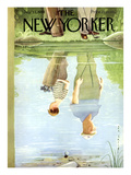 The New Yorker Cover - July 12, 1958 Premium Giclee Print by Rea Irvin