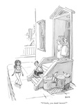 """""""Whistle, you dumb bastard!"""" - New Yorker Cartoon Premium Giclee Print by George Booth"""
