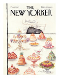 The New Yorker Cover - February 17, 1973 Premium Giclee Print by Ronald Searle