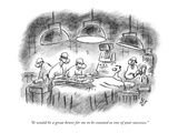 """It would be a great honor for me to be counted as one of your successes."" - New Yorker Cartoon Premium Giclee Print by Frank Cotham"