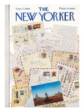 The New Yorker Cover - September 17, 1966 Regular Giclee Print by Saul Steinberg
