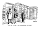 """Holy cow!  What kind of crazy people used to live here anyway?"" - New Yorker Cartoon Premium Giclee Print by Warren Miller"