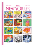 The New Yorker Cover - January 7, 1991 Regular Giclee Print by Kenneth Mahood