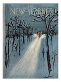 The New Yorker Cover - January 11, 1958 Regular Giclee Print by Abe Birnbaum