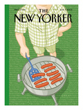 The New Yorker Cover - July 7, 2003 Regular Giclee Print by Christoph Niemann