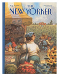 The New Yorker Cover - August 14, 1995 Premium Giclee Print by Peter de Sève