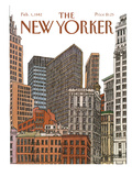 The New Yorker Cover - February 1, 1982 Premium Giclee Print by Roxie Munro
