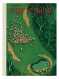 The New Yorker Cover - August 29, 1953 Premium Giclee Print by Constantin Alajalov
