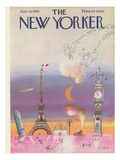 The New Yorker Cover - June 10, 1961 Premium Giclee Print by Saul Steinberg