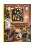 The New Yorker Cover - December 16, 1996 Regular Giclee Print by Edward Sorel